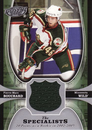 2005-06 UD Power Play Specialists Jerseys - Pierre-Marc BOUCHARD č. TSPB