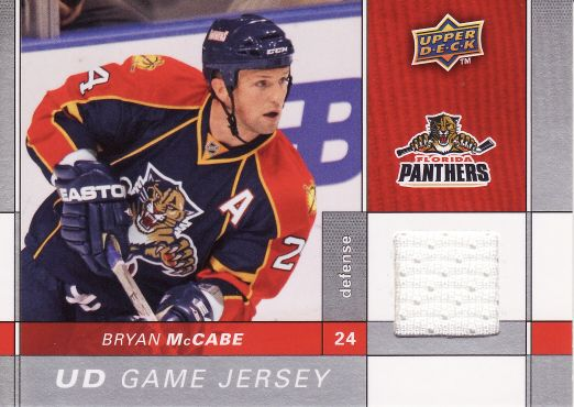 2009-10 Upper Deck Game Jerseys - Bryan McCABE č. GJMC
