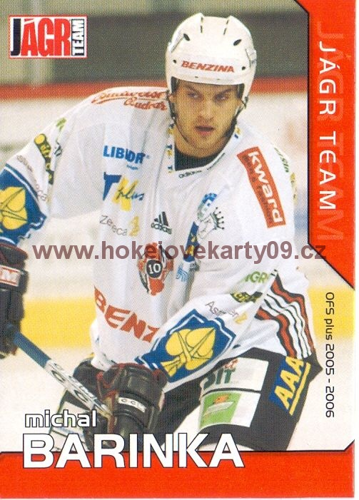 2005-06 OFS Jágr Team - Michal BARINKA č. JT09