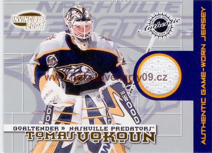 2003-04 Pacific Invincible - Tomáš VOKOUN č. 17