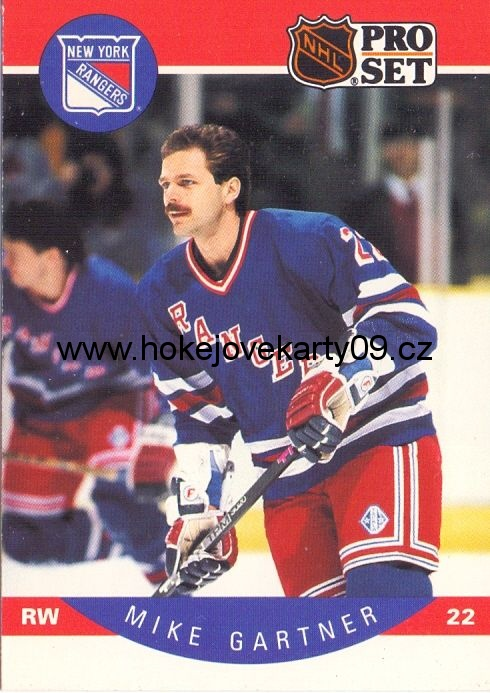 1990-91 Pro Set - Mike GARTNER č. 196