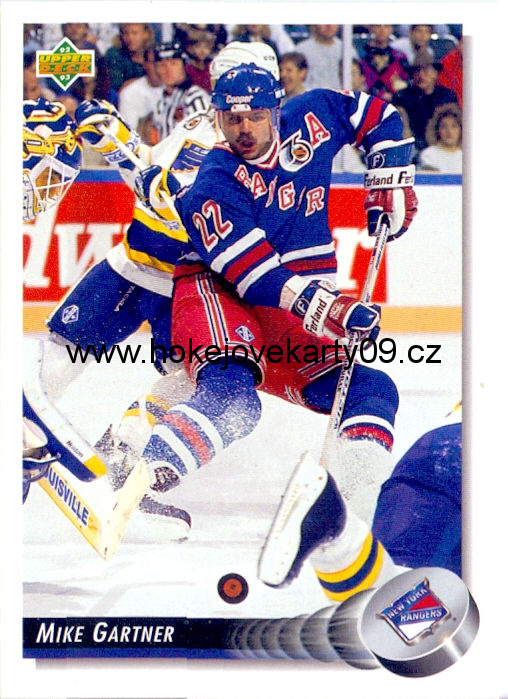 1992-93 Upper Deck - Mike GARTNER č. 126