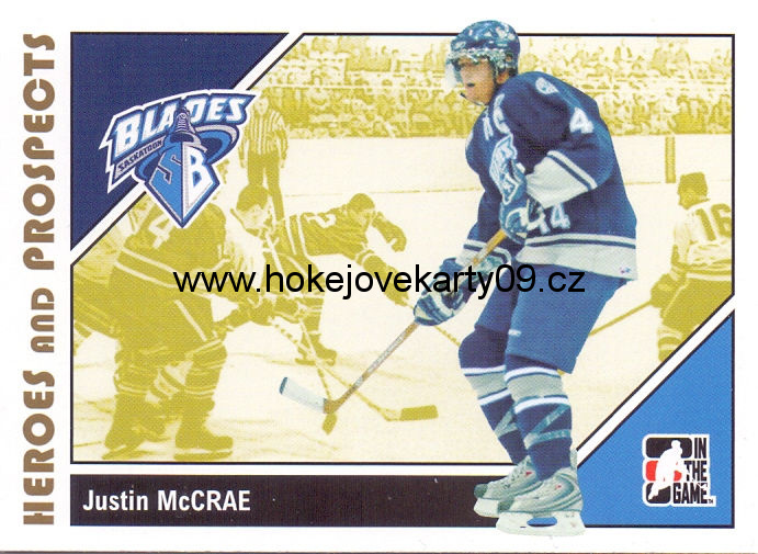 2007-08 Heroes & Prospects - Justin McCRAE č. 67