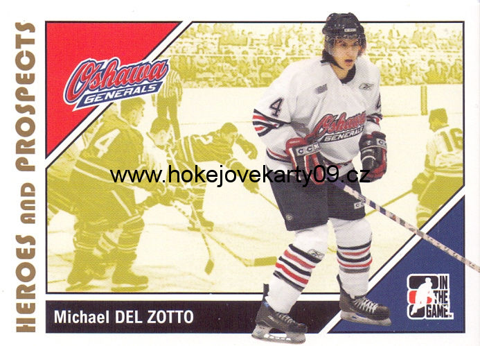 2007-08 Heroes & Prospects - Michael Del ZOTTO č. 88