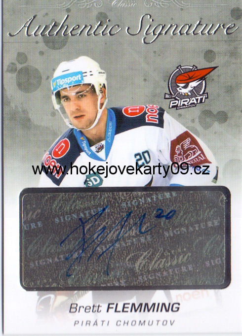 17-18 OFS - Brett FLEMMING č. AS-116 Authentic Signature