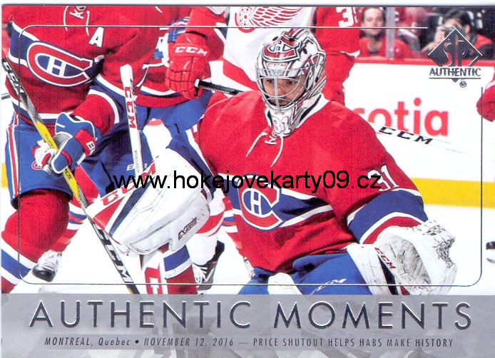 16-17 SP Authentic - Carey PRICE č. 110