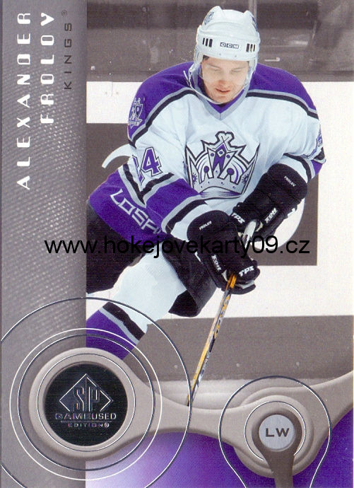 05-06 SP Game Used - Alexander FROLOV č. 48