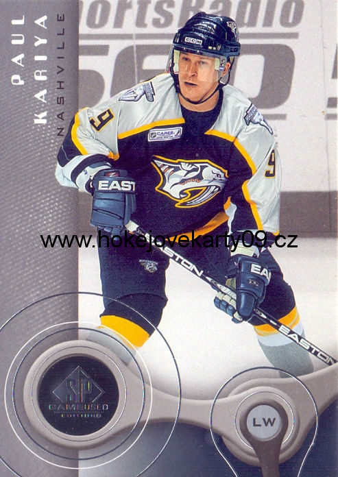 05-06 SP Game Used - Paul KARIYA č. 55