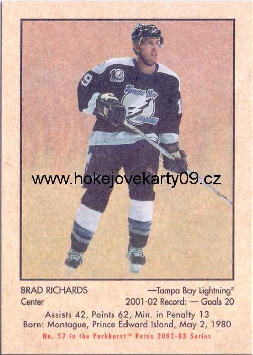 02-03 Parkhurst Retro - Brad RICHARDS č. 57