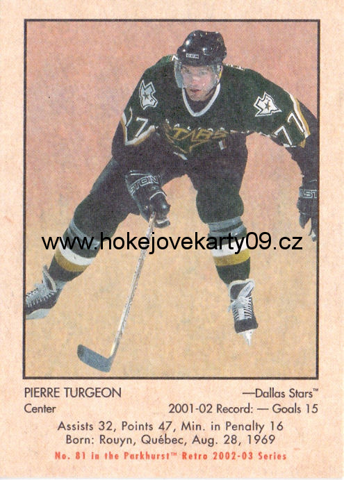 02-03 Parkhurst Retro - Pierre TURGEON č. 81