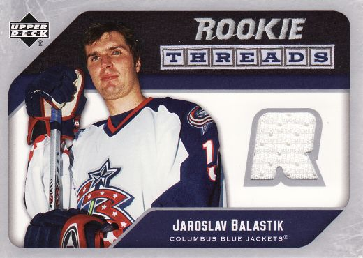 2005-06 Upper Deck Rookie Threads - Jaroslav BALAŠTÍK č. RT-JB
