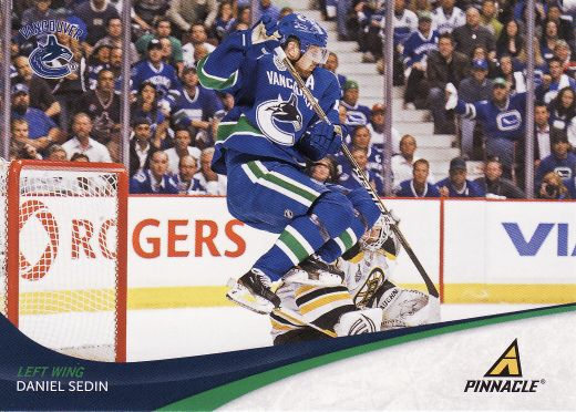 2011-12 Pinnacle - Daniel SEDIN č. 22