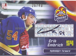 18-19 Jokerit - Erik EMBRICH č. JOK-AUT-020
