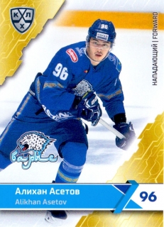 18-19 KHL - Alikhan ASETOV č. BAR-004