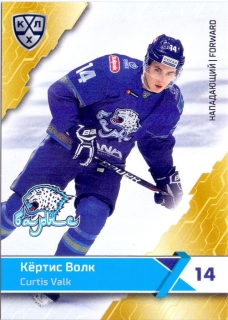 18-19 KHL - Curtis VALK č. BAR-006